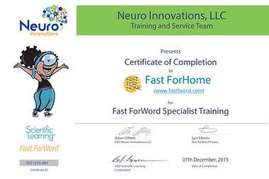 Fast ForWord certificate, развитие речи, FFW, Fast ForWord, Fast For Word, Фаст фо ворд отзывы, исполнительные функции, задержка в развитии, когнитивные навыки, СДВГ, НСВ, ФФН, дефицит внимания, гиперактивность, СДВ