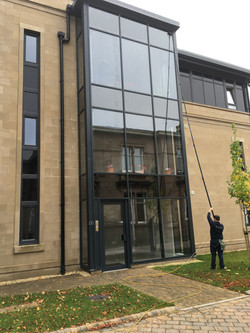 Reach and was window cleaning