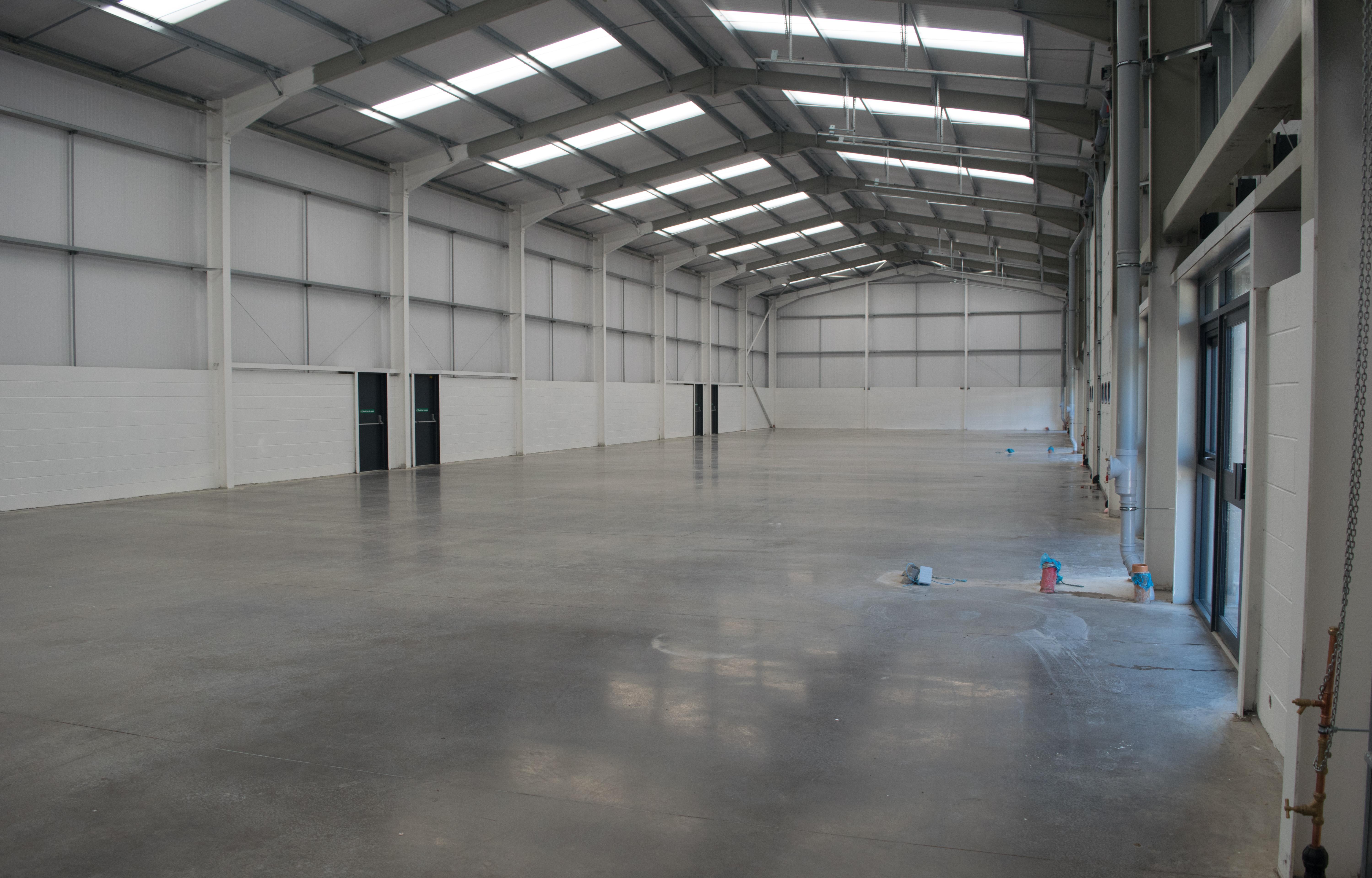Industrial Floor Scrub After