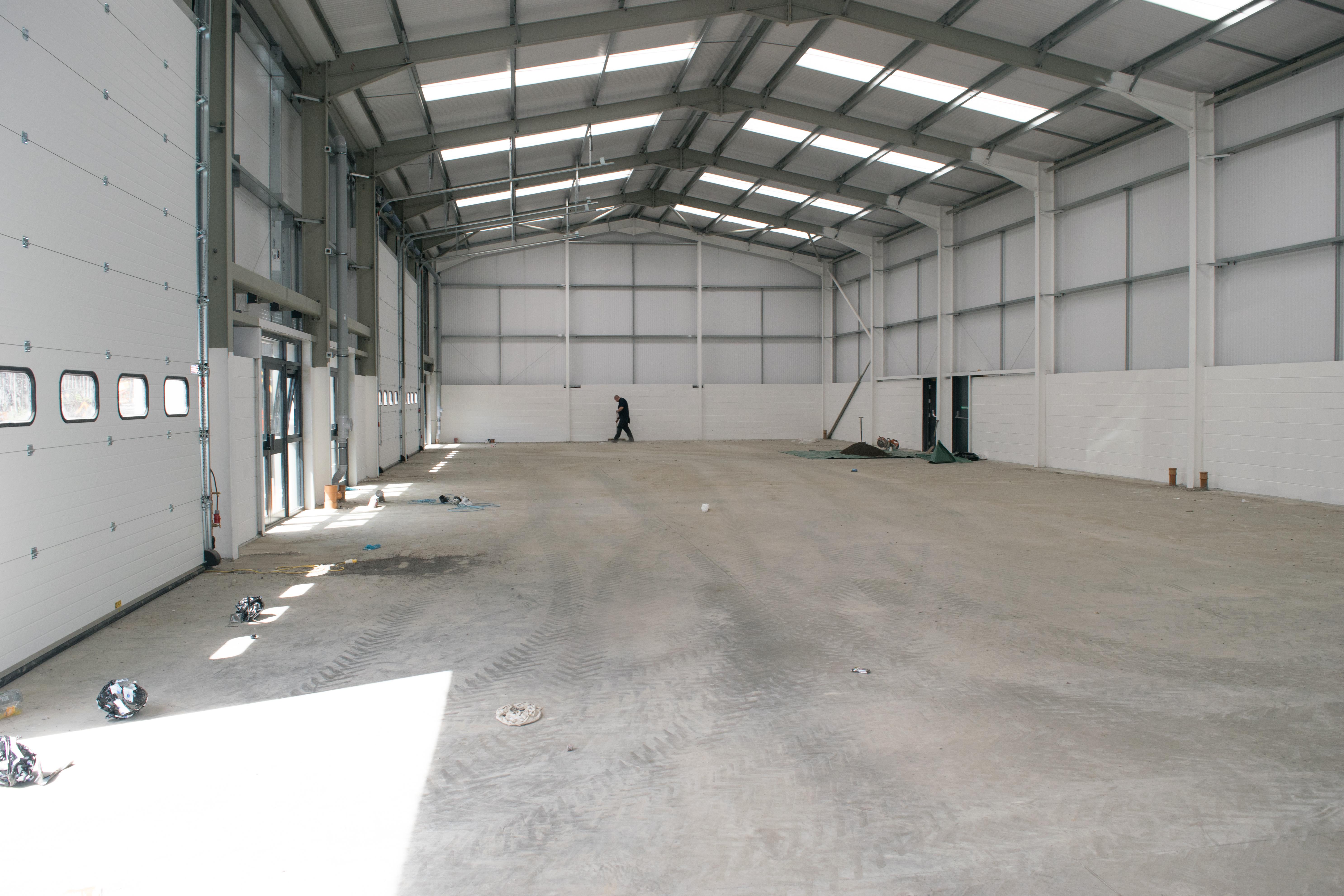 Industrial Floor Scrub Before