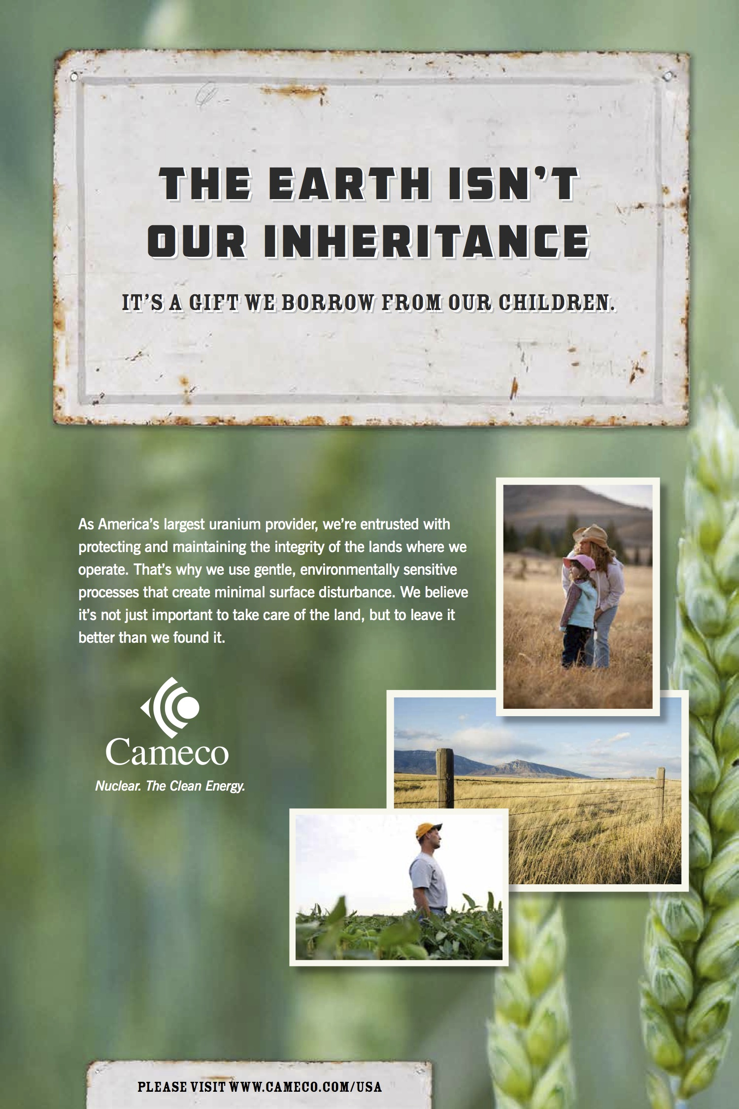 """The Earth Isn't Our Inheritance."""