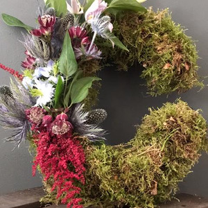 Moss and Flowered Letters