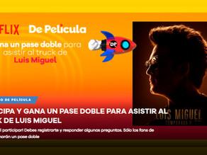 Gana Pase doble para el Truck Movil de Luis Miguel