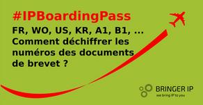 FR, WO, US, KR, A1, B1, ... Comment déchiffrer les numéros de publication des documents de brevet?