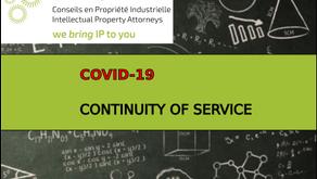 Covid-19 / Continuité de service