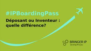 Déposant d'une demande de brevet ou inventeur désigné: quelle différence ?