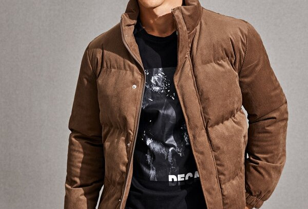 """CORDUROY"" Puffer Jacket"