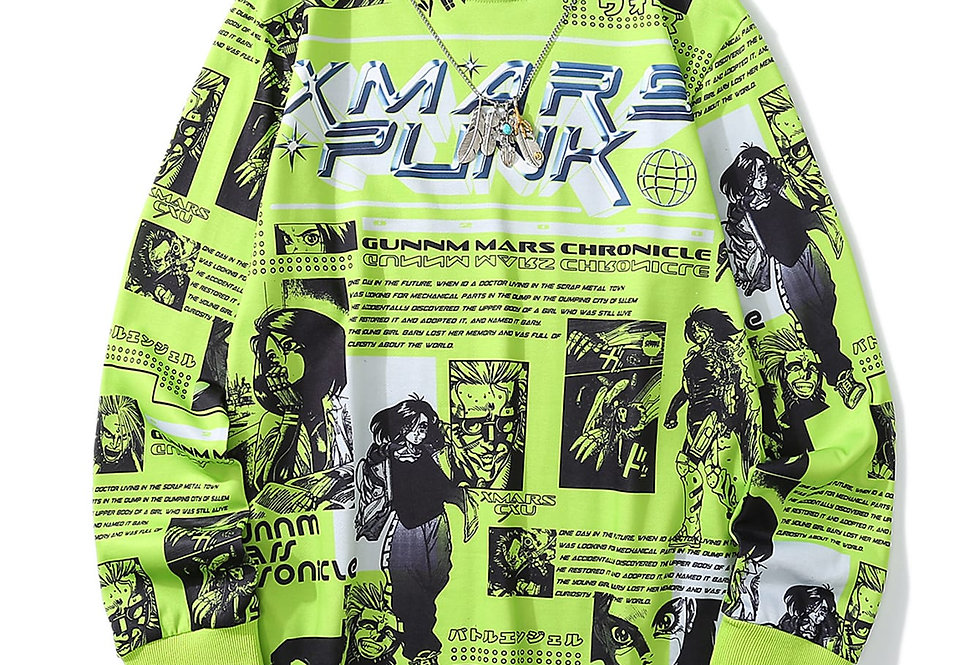 """COMIC GLOW"" Graphic Sweatshirt"