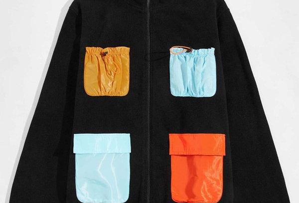 """CONTRAST"" Pocket Teddy Jacket"