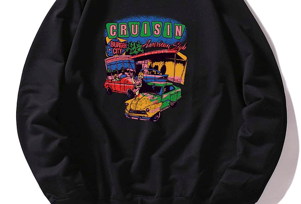 """""""CRUISIN""""Graphic Sweatshirt"""