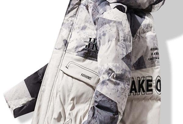 """TAKE ORIGNAL"" Graphic Puffer Jacket"