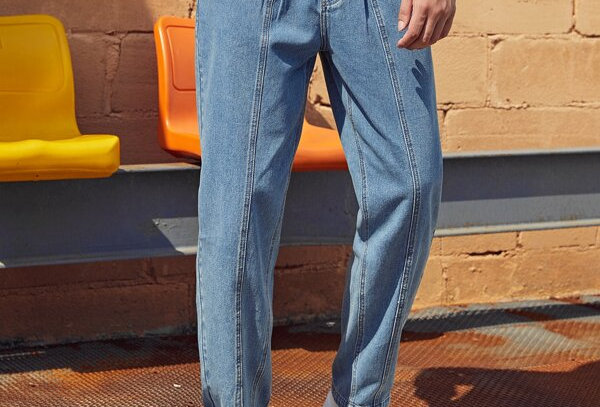 Detailed Carrot Jeans