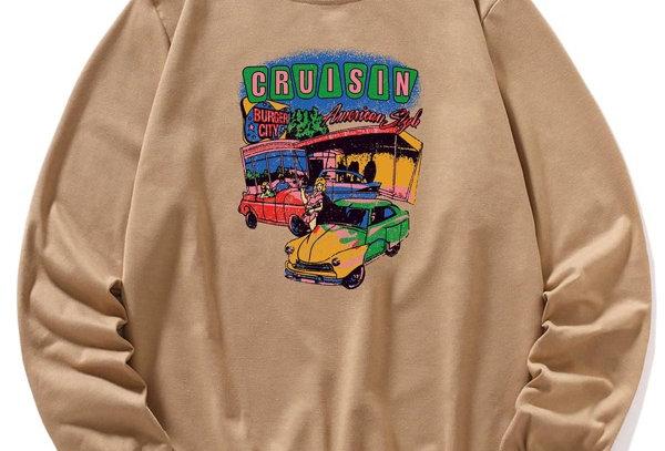 """""""CRUISIN"""" Graphic Sweatshirt"""