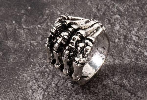 """""""DEATHLY SKULL"""" Ring"""