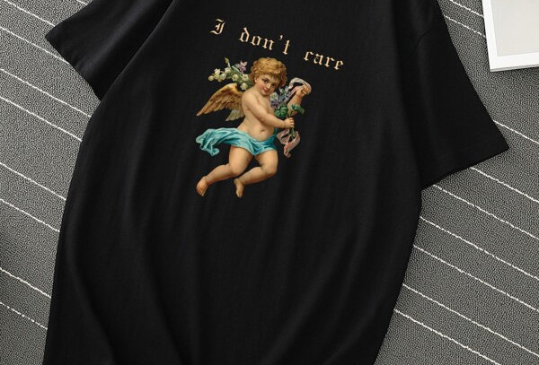 """I DON'T CARE""Graphic Tee"