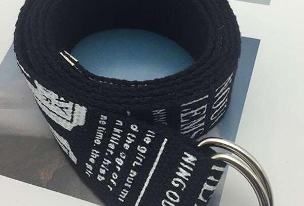 """GRAPHIC"" Letter Tape Belt"