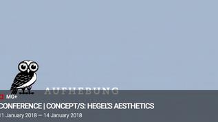 CONCEPT/S: Hegel/s Aesthetics