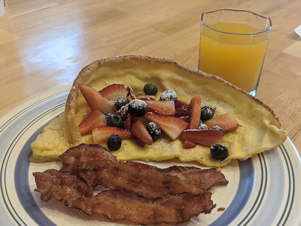 Dutch Baby with a Black-eyed Susan