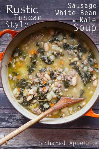 White Bean, Kale, and Sausage Soup
