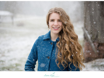 Kali's Senior Session - Snowy and Full of Class