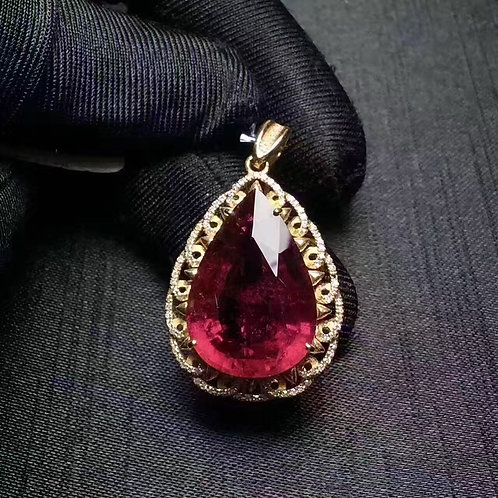 Heart-shaped Ruby Charm