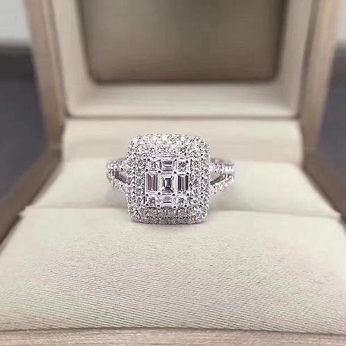 Square Diamond Ring de IronLady
