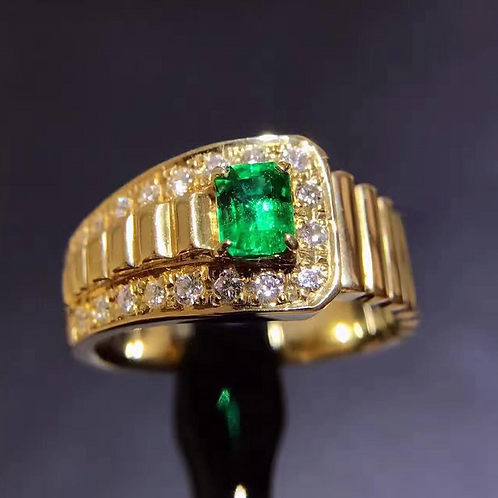 Emerald Gold Ring de Ironlady