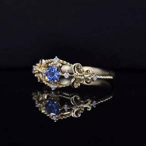 Sapphire Rococo Ring de IronLady
