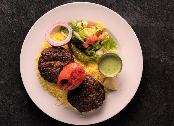 Beef Chapli Plate, 2 pieces