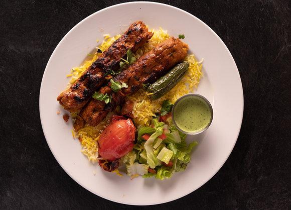Chicken Seekh Kabob Plate, 2 pieces