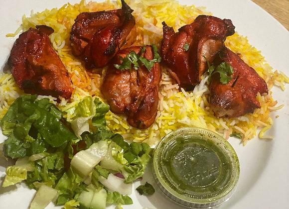 Boneless Chicken Tikka & Rice