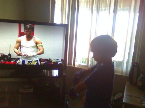 Snake Blocker Muay Thai Instructional Video watched by Nephew Ethan Blocker
