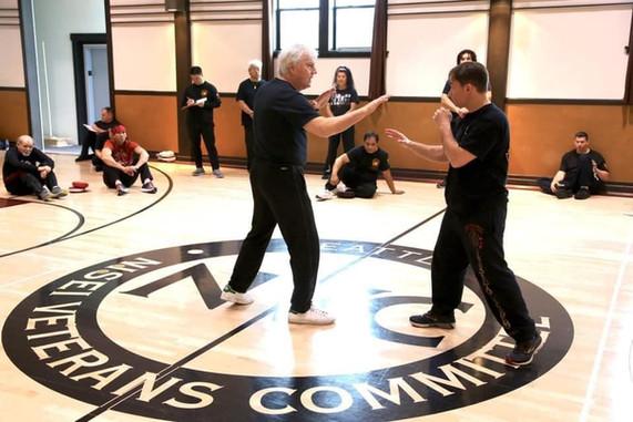 Sifu Chris Kent teaching at Sifu Taky Kimura's Jun Fan Gung Fu Seminar and Birthday Celebration