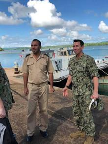 Petty Officer Snake Blocker (right), Madagascar