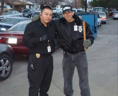 Steve LaPointe (Former Pro MMA Fighter) and Snake Blocker -Security Guards at Denver Indian Center