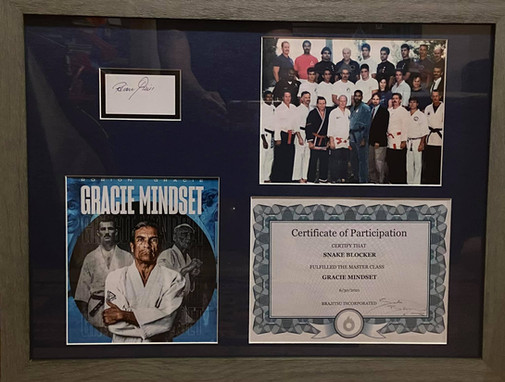 Rorion Gracie Mindset and photo of many martial arts masters & grandmasters teaching the Los Angels Police Department Defense