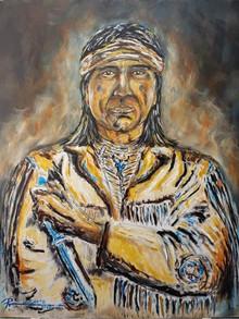 Snake Blocker - Apache Warrior Nawood Series. Apache Artist: Ruben Chato Hinojosa Jr.