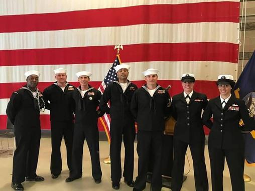 Navy Unit: Petty Officer Snake Blocker (3rd from left) CNE/CNA MPP 118 (Africom Unit)