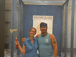 Melissa & Snake Blocker Tomahawk Throwing