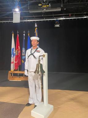 Petty Officer Snake Blocker, Bell Toller for Memorial Service Tribute