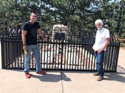 Snake Blocker and Jean-Pierre Julemont at Buffalo Bill's Gravesite, Colorado