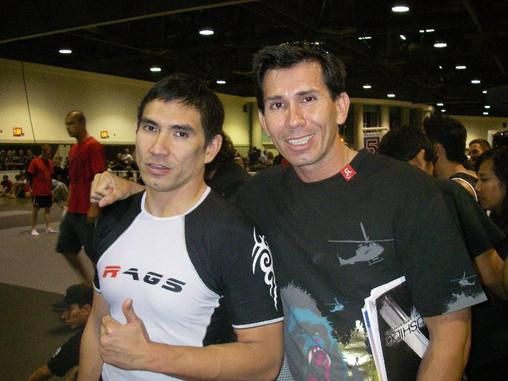 Pierre Suraputra (Black Belt Brazilian Jiu-Jitsu) & Snake Blocker (old High School friends)