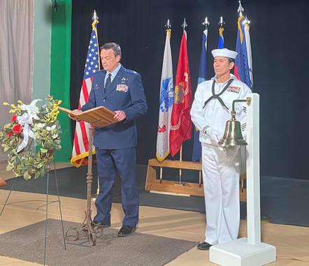 Petty Officer Snake Blocker, Bell Toller for Memorial Service Tribute 2021