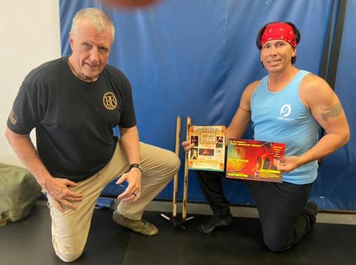 W. Hock Hochheim & Snake Blocker receiving his 3rd Degree Black Belt in Filipino Martial Arts (FMA)