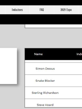 Snake Blocker Inductee PHMAS Hall of Fame 2015