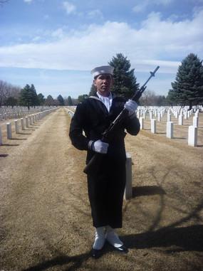 Petty Officer Snake Blocker - Rifle Detail Honors, Ft Logan National Cemetery