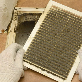 Dirty Air register cleaned with Air duct cleaning services