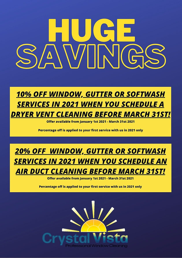 10% OFF Gutter or softwash services when