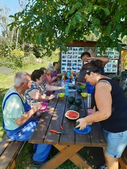 Unsere Melonenverkostung(14.08.2021)