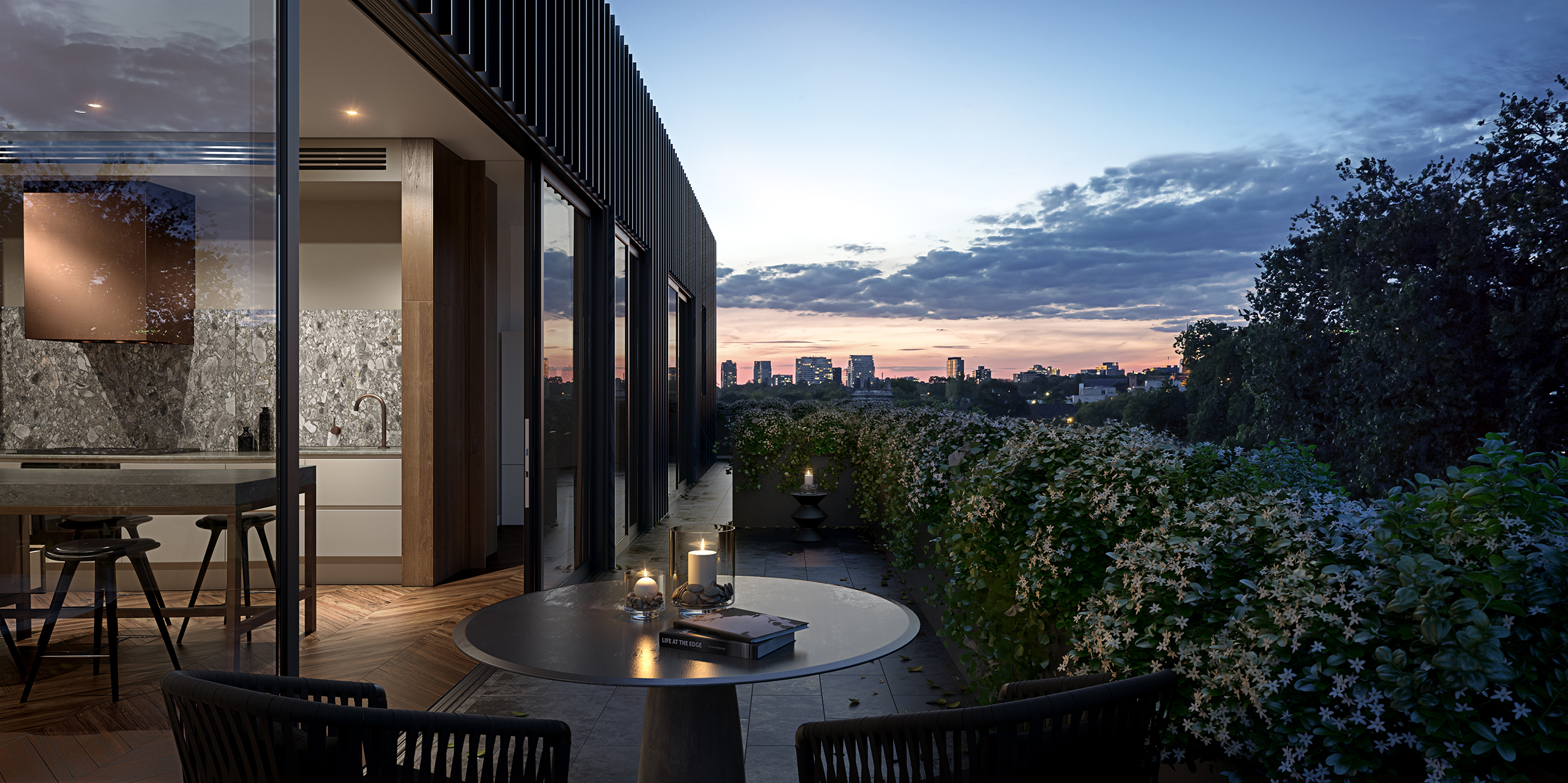 CHAMBERS - MELBOURNE -PENTHOUSE DUSK